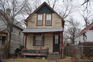 """This home was added to the 2016 Des Moines Rehabbers Club """"Most Endangered Buildings"""" list."""