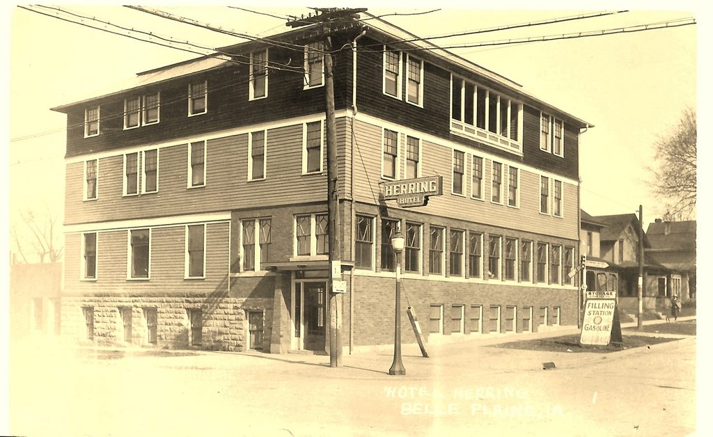 Herring Hotel in Belle Plaine, IA, circa 1922.