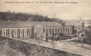 Historic Photo of the Iowa State Penitentiary recreation yard