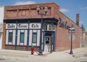 Deb's Corner Cafe in Manning, Iowa, listed in Preservation Iowa's 2012 Most Endangered Buildings.