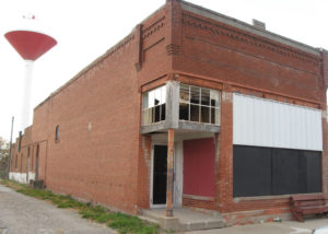 "This former hardware store in Orient, Iowa, was listed as one of Preservation Iowa's ""Most Endagered"" buildings in 2012."