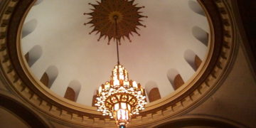 Dome in the main sanctuary, Temple B'nai Jeshurun, Des Moines