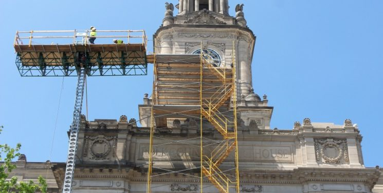 2016 Preservation at its Best, Public Building: Polk County Courthouse.  Exterior rehabilitation in progress.