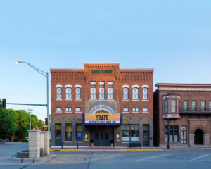 2016 Preservation at its Best, Small Commercial: State Theatre, Washington, Iowa.  Exterior daytime view.