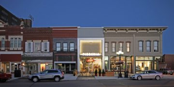 2016 Preservation at its Best, Small Commercial winner: Walden Block.  Four adjacent commercial buildings in Waterloo.